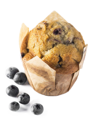 Picture Muffin double blueberry